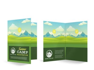 Summer Camp Bi-Fold Pocket Folder Template mb0zecc4u4 preview