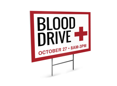 Blood Drive Yard Sign Template 123z4r6wpe preview