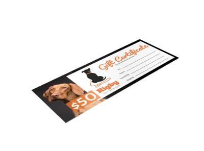 Pet Sitting Gift Certificate Template qtonyiwqjh preview