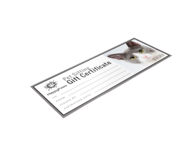 Pet Sitting Gift Certificate Template 9hhyc9lwet preview