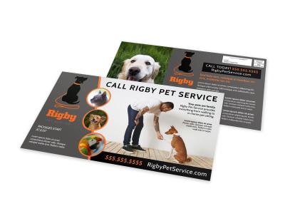 Pet Sitting EDDM Postcard Template vx248el2ec preview