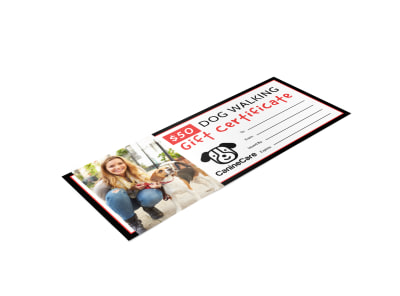 Dog Walking Gift Certificate Template bs36quvew4 preview