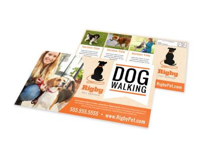 Dog Walking EDDM Postcard Template gjr6s20upu preview