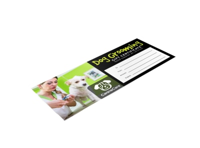 Dog Grooming Gift Certificate Template 64mhh1vmi8 preview