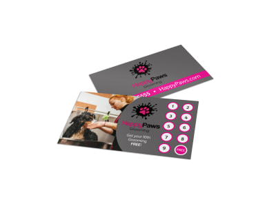 Dog Grooming Loyalty Card Template 85hab0ycls preview