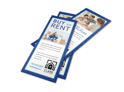 Buy vs Rent Real Estate Flyer Template ygqlciruy1 preview