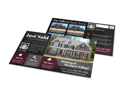 Just Sold Real Estate EDDM Postcard Template l8458e6zdv preview