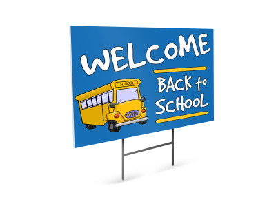 Back To School Yard Sign Template cdxdfkq5un preview