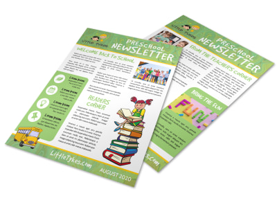 Preschool Newsletter Template cpfcvpf40l preview