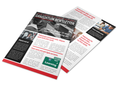 School Graduation Newsletter Template u7psf41rdt preview