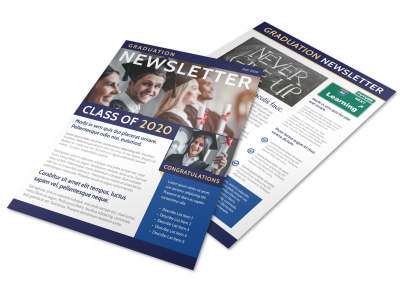 School Graduation Newsletter Template q9rk4x7vrz preview