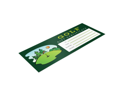 Golf Gift Certificate Template 0btr719n9a preview