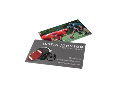 Football Business Card Template zr1ikd1wb7 preview