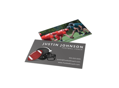 Football Business Cards Template Preview
