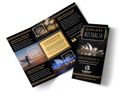 Australia Travel Tri-Fold Brochure Template 905zl0nvd6 preview