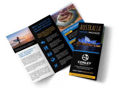 Australia Travel Tri-Fold Brochure Template 49cd9422dr preview