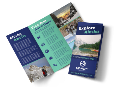 Alaska Travel Tri-Fold Brochure Template lr968e99xo preview