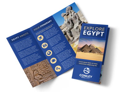 Egypt Travel Tri-Fold Brochure Template on9ih2zifp preview