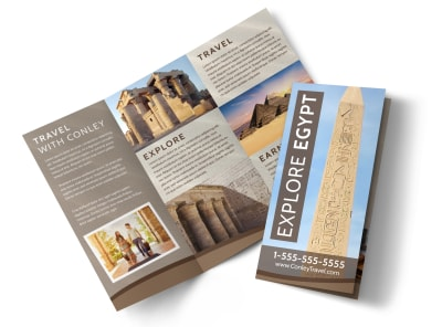 Egypt Travel Tri-Fold Brochure Template 2mpsdli6ti preview