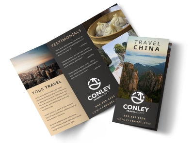 China Travel Tri-Fold Brochure Template 42eyd1yi2n preview