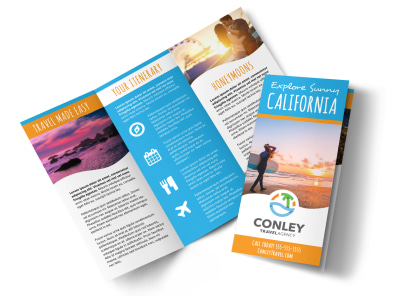 California Travel Tri-Fold Brochure Template nzj099br3x preview