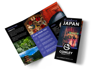 Japan Travel Tri-Fold Brochure Template 3udkuah0pm preview