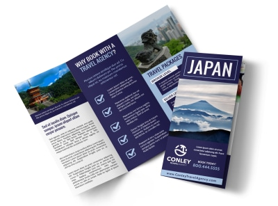 Japan Travel Tri-Fold Brochure Template w9ef5dzymu preview