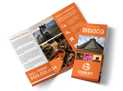Mexico Travel Tri-Fold Brochure Template lrmr91l0dx preview