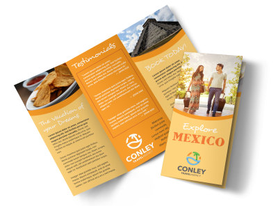 Mexico Travel Tri-Fold Brochure Template 3au8u2v9f8 preview