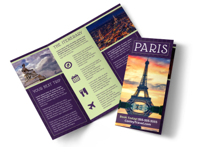 Paris Travel Tri-Fold Brochure Template 1kcra68ksr preview