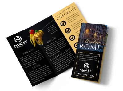Rome Travel Tri-Fold Brochure Template zqx1swpgud preview
