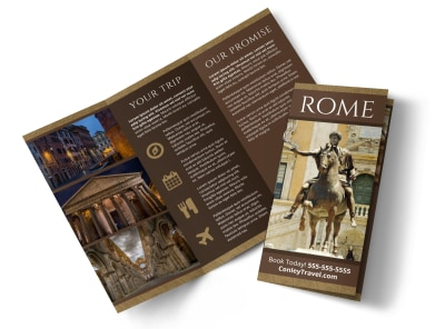 Rome Travel Tri-Fold Brochure Template s0to2ap5qc preview