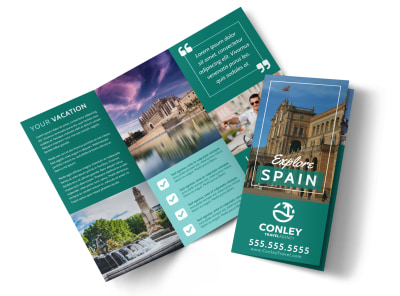 Spain Travel Tri-Fold Brochure Template 2aiv7uyrpj preview