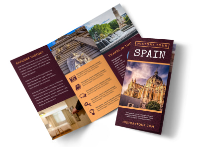 Spain Travel Tri-Fold Brochure Template u9ymilxk8o preview