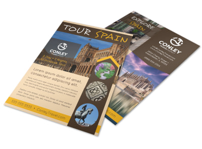 Spain Travel Flyer Template q20o99z7ks preview