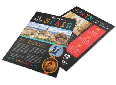 Spain Travel Flyer Template 5nfiayic47 preview