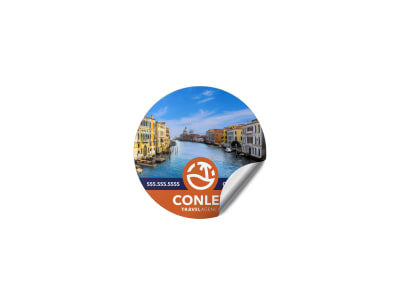 Travel Agency Sticker Template cvqaqsbo6q preview