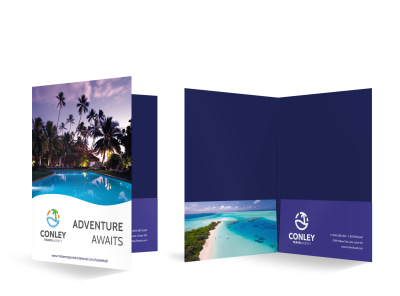 Travel Agency Bi-Fold Pocket Folder Template 7t12f0qdw9 preview
