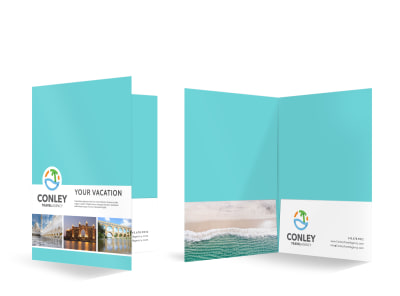 Travel Agency Bi-Fold Pocket Folder Template npq5df137l preview