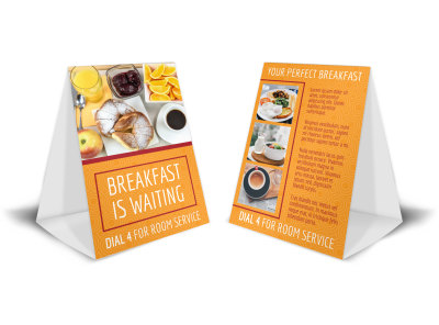 Hotel Breakfast Table Tent Template bustarrl41 preview