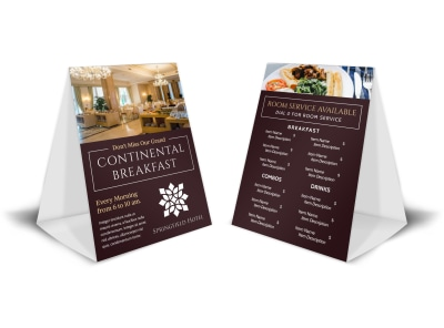 Hotel Breakfast Table Tent Template fncku92rn1 preview