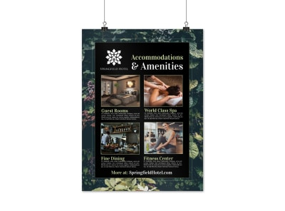 Hotel Accommodations & Amenities Poster Template v3anvghkmz preview
