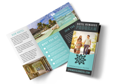 Hotel Rewards Program Tri-Fold Brochure Template 742k6gx0ve preview