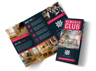 Hotel Rewards Program Tri-Fold Brochure Template j5pvi042q0 preview