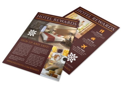 Hotel Rewards Program Flyer Template irvhsclt2f preview