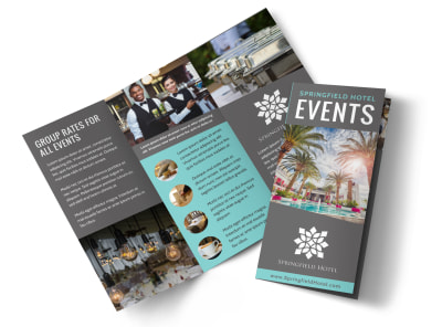 Hotel Event Center Tri-Fold Brochure Template ib13sqss1d preview