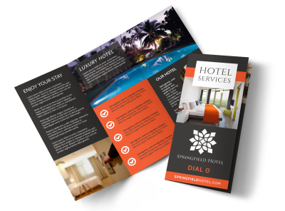 Hotel Room Service Tri-Fold Brochure Template 439091yv0r preview