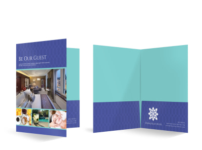 Hotel Bi-Fold Pocket Folder Template bkprxfbals preview