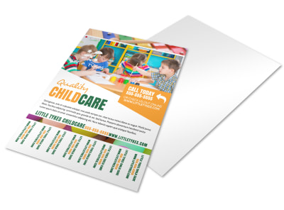 Daycare Tear Off Flyer Template nmyoh7nufv preview