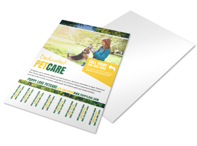 Pet Sitting Tear Off Flyer Template uwulw5botq preview